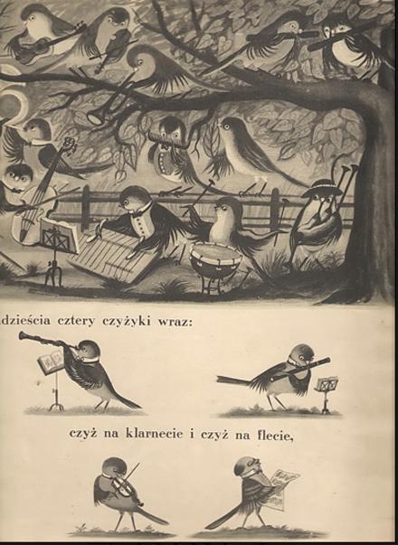 pássaros a ensaiar