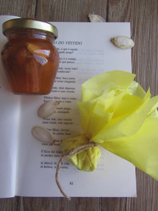 Doce e sementes de abóbora