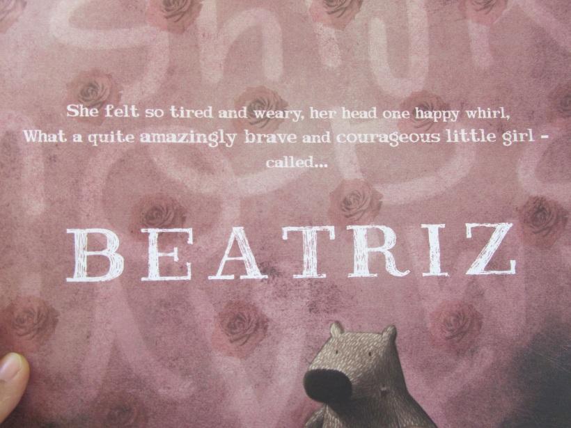 Última página do livro Beatriz
