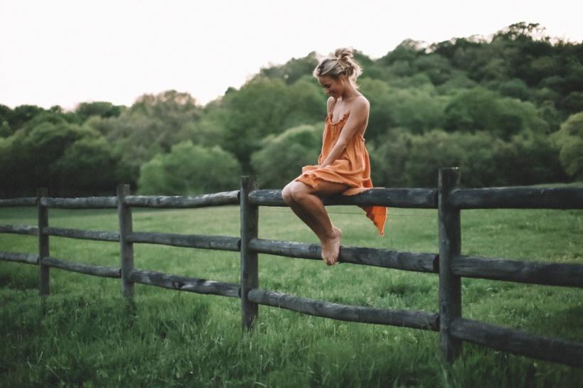vestido laranja