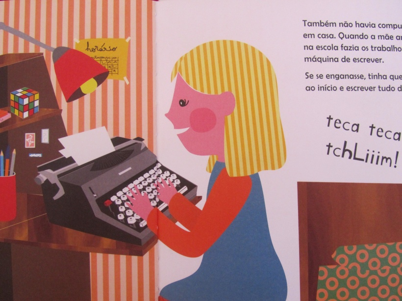 Quando a mãe era pequena máquina de escrever
