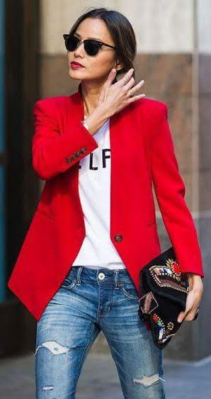 blazer vermelho 2016