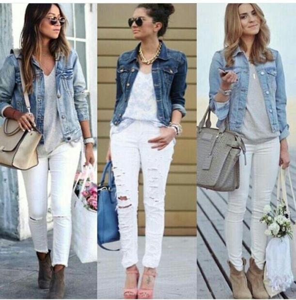 jeans brancos