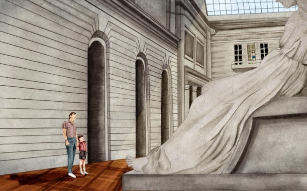 gigi rode gray large-statue