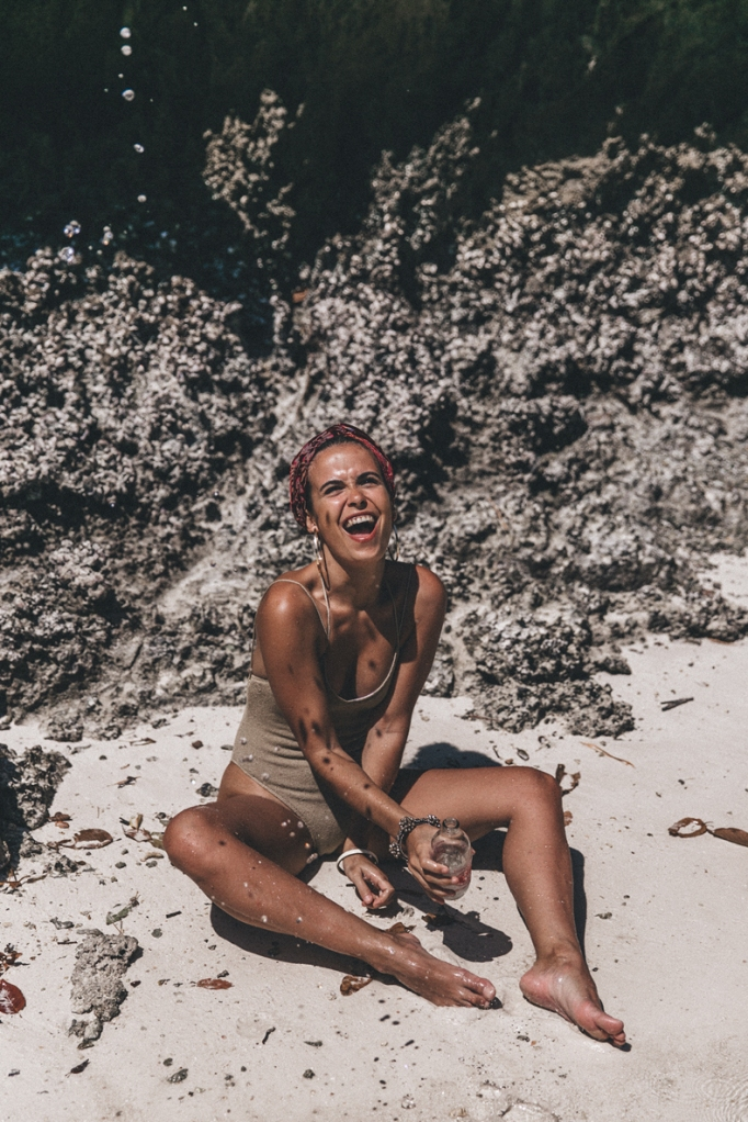 Knit_Swimsuit-Turbant Collage Vintage