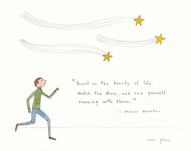 marc johns correr com as estrelas