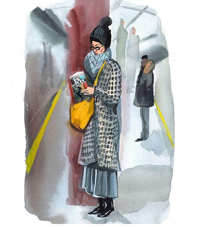 lady at subway Jenny Kroik