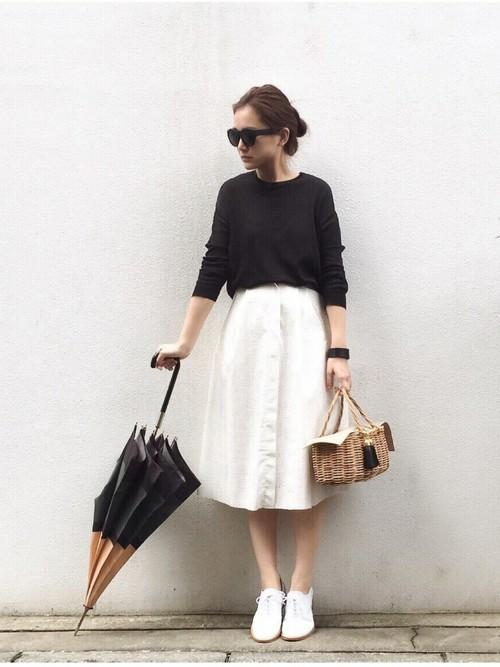 Inverno 2018 Japan white skirt